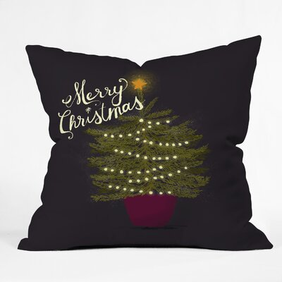 Merry Christmas Little Tree Indoor/Outdoor Throw Pillow