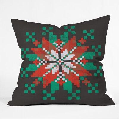 Snowflake Indoor/Outdoor Throw Pillow