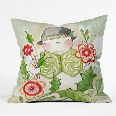 Snowguy Indoor/Outdoor Throw Pillow