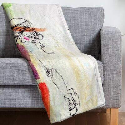 Holly Sharpe Rainbow Fleece Throw Blanket