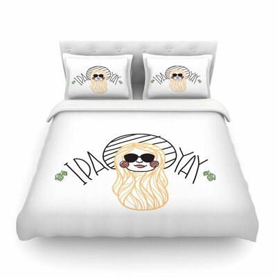Ipa Yay by Busy Bree Featherweight Duvet Cover Size: Twin