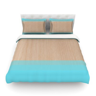 Art by Brittany Guarino Featherweight Duvet Cover Size: Twin, Color: Blue