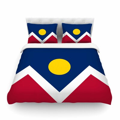 Denver Colorado City Flag by Bruce Stanfield Featherweight Duvet Cover Size: Full/Queen