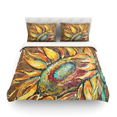 Sunflower by Brienne Jepkema Featherweight Duvet Cover Size: King