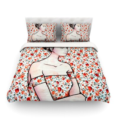 Spring Fashion by Brittany Guarino Featherweight Duvet Cover Size: Twin