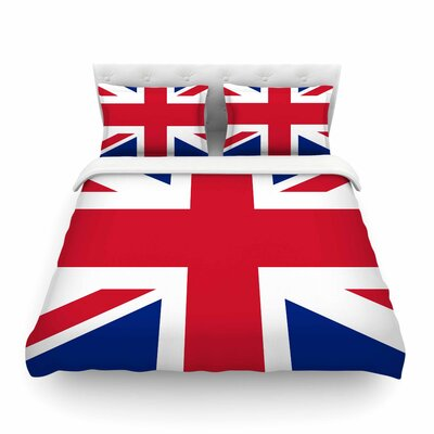 Classic Union Jack by Bruce Stanfield Featherweight Duvet Cover Size: Full/Queen