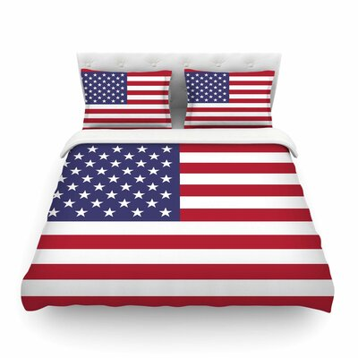 Flag of USA by Bruce Stanfield Featherweight Duvet Cover Size: Full/Queen