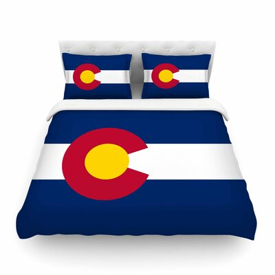 Colorado State Flag by Bruce Stanfield Featherweight Duvet Cover Size: Full/Queen