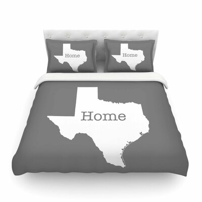 Texas Is Home by Bruce Stanfield Featherweight Duvet Cover Size: Full/Queen