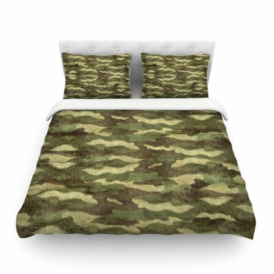 Dirty Camo by Bruce Stanfield Featherweight Duvet Cover Size: King