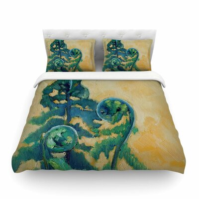 Fiddleheads by Carol Schiff Featherweight Duvet Cover Size: Full/Queen