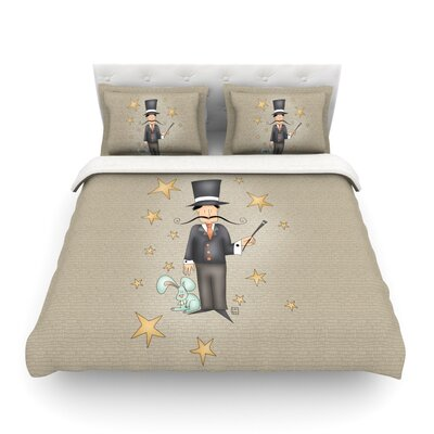 Circus Magician by Carina Povarchik Featherweight Duvet Cover Size: Twin