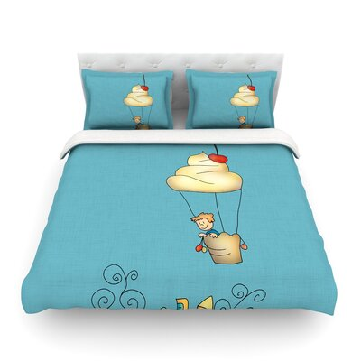 Sweet World by Carina Povarchik Featherweight Duvet Cover Size: Twin