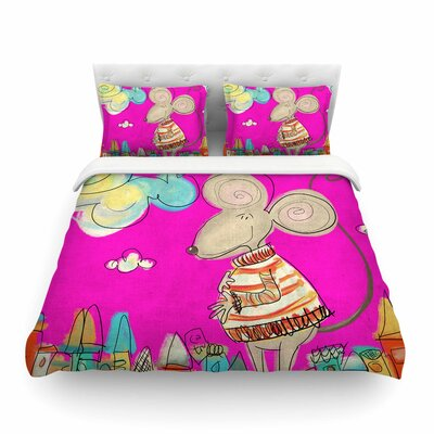 Urban Mouse by Carina Povarchik Featherweight Duvet Cover Size: Twin