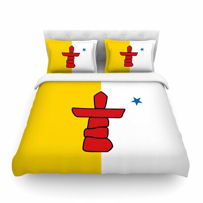 Flag of Nunavut by Bruce Stanfield Featherweight Duvet Cover Size: Twin
