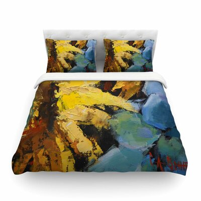 Sunflowers and Hydrangea by Carol Schiff Featherweight Duvet Cover Size: King