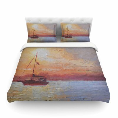 Evening Anchor Painting by Carol Schiff Featherweight Duvet Cover Size: Twin