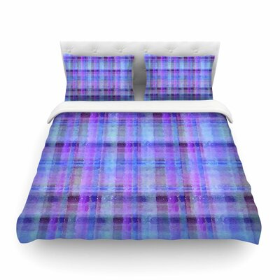 Watercolor Plaid by Carolyn Greifeld Featherweight Duvet Cover Size: Twin, Color: Blue