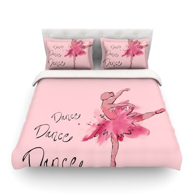 Ballerina by Brienne Jepkema Featherweight Duvet Cover Size: Full/Queen