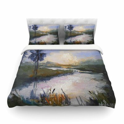Florida Marshland by Carol Schiff Featherweight Duvet Cover Size: Twin