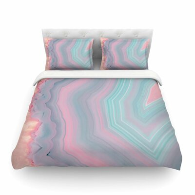Sweet Pastel Agate Featherweight Duvet Cover Size: Full/Queen