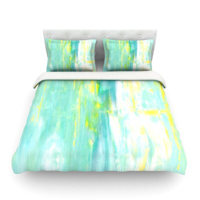 Spring Forward by CarolLynn Tice Featherweight Duvet Cover Size: King