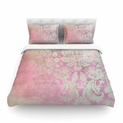 Spring Damask Featherweight Duvet Cover Size: King