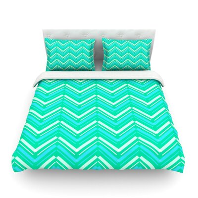 Symetrical by CarolLynn Tice Featherweight Duvet Cover Size: Twin
