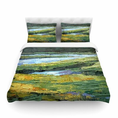 Southern Marsh by Carol Schiff Featherweight Duvet Cover Size: Twin