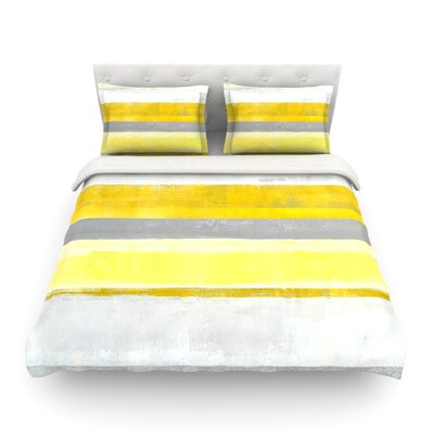 Lemon by CarolLynn Tice Featherweight Duvet Cover Size: King