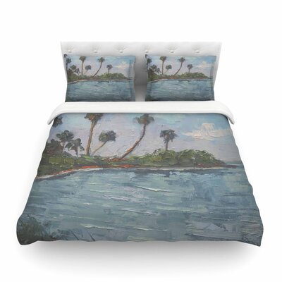 Blue Lagoon by Carol Schiff Featherweight Duvet Cover Size: King