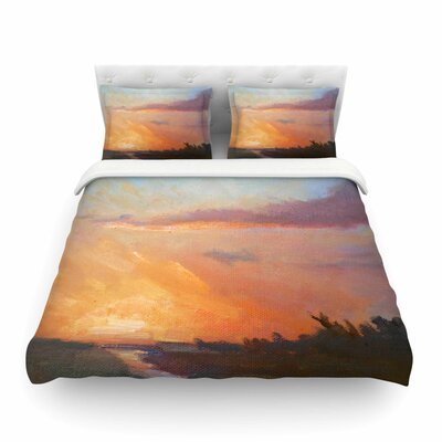 Golden Hour over The Marsh by Carol Schiff Featherweight Duvet Cover Size: Full/Queen