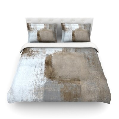 Calm and Neutral by CarolLynn Tice Featherweight Duvet Cover Size: Twin