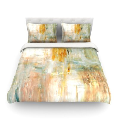 Coffee Paint by CarolLynn Tice Featherweight Duvet Cover Size: Full/Queen