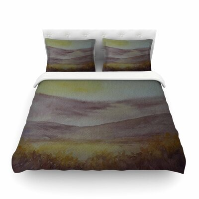 Mauve Sunset Nature by Cyndi Steen Featherweight Duvet Cover Size: Twin