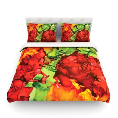 One Love by Claire Day Featherweight Duvet Cover Size: Full/Queen