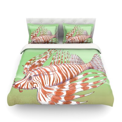 Fish Manchu by Catherine Holcombe Featherweight Duvet Cover Size: King