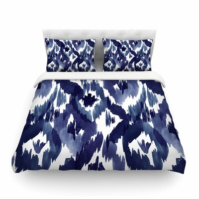 Ikat Diamond by Crystal Walen Featherweight Duvet Cover Size: King