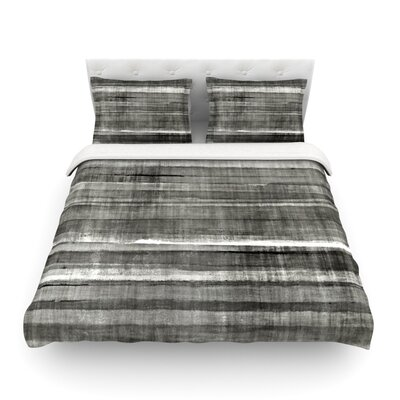 Gray Accent by CarolLynn Tice Featherweight Duvet Cover Size: Full/Queen