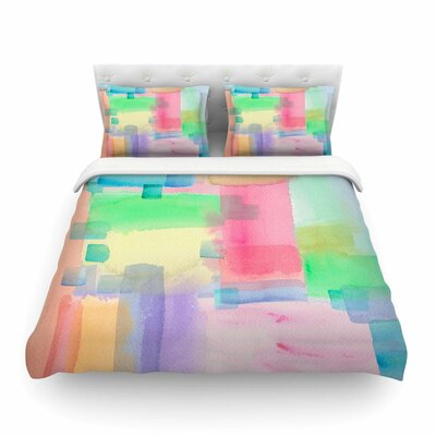 Watercolor Brushstrokes Modern by Catherine Holcombe Featherweight Duvet Cover Size: Full/Queen