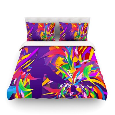 Shooting Rainbow by Danny Ivan Featherweight Duvet Cover Size: King