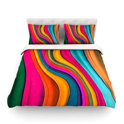 Lov Color by Danny Ivan Featherweight Duvet Cover Size: Full/Queen
