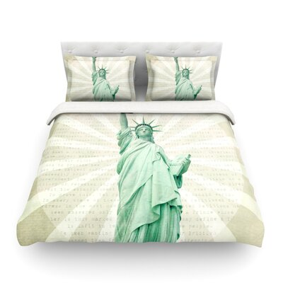 The Lady Statue of Liberty by  Catherine McDonald Featherweight Duvet Cover Size: Twin