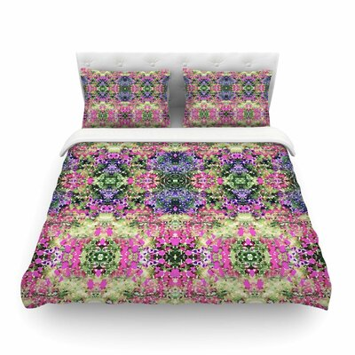 Cascade Reflections Abstract by Carolyn Greifeld Featherweight Duvet Cover Size: King