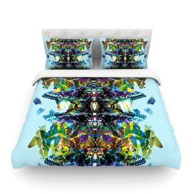 Butterfly Blue Rainbow by Danii Pollehn Featherweight Duvet Cover Size: Full/Queen