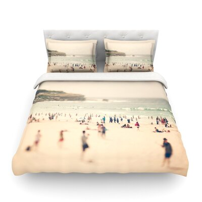 Bondi Beach Coastal People by Catherine McDonald Featherweight Duvet Cover Size: Twin