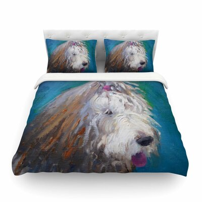 Shaggy Dog Story by Carol Schiff Featherweight Duvet Cover Size: Twin