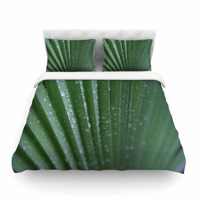 Palm Frond Nature by Cyndi Steen Featherweight Duvet Cover Size: Full/Queen