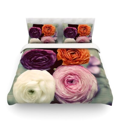 Four Kinds of Beauty Roses by Cristina Mitchell Featherweight Duvet Cover Size: Twin