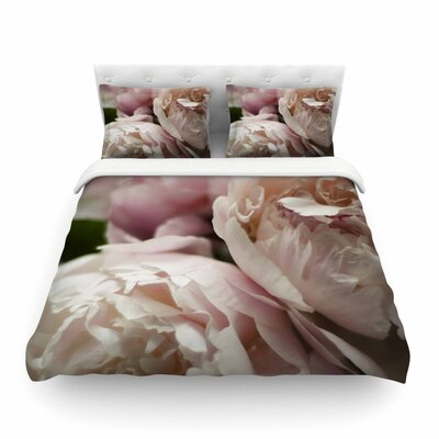 Peonies by Cristina Mitchell Featherweight Duvet Cover Size: Twin